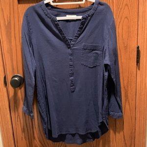 Old Navy Tunic 3/4 Sleeve Dark Blue Top XL
